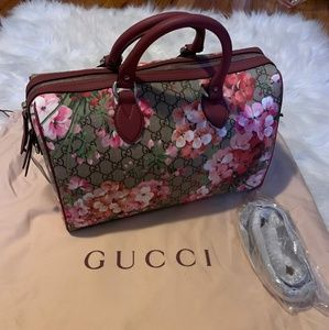Gucci handbag with flowers print